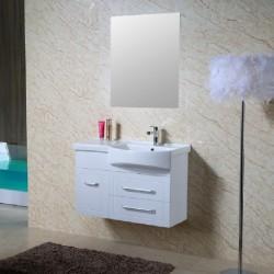 Комплект PVC шкаф за баня с плот и мивка Джени