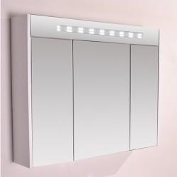 Голям горен огледален PVC шкаф с осветление