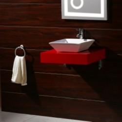 Червен пвц плот за баня
