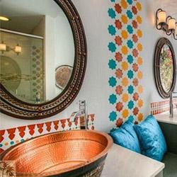 Eклектичен дизайн на баня